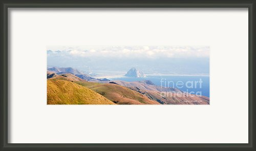 Morro Bay Rock Vista Overlooking Highway 46 Paso Robles California Framed Print By Author And Photographer Laura Wrede