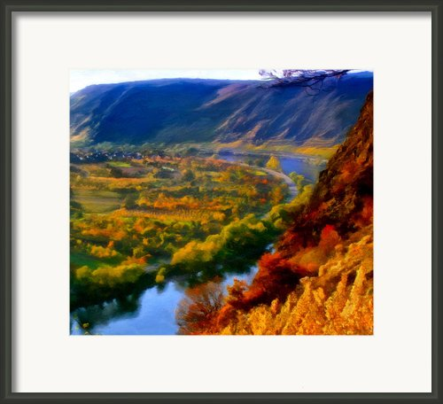 Mosel In The Fall Framed Print By Michael Pickett