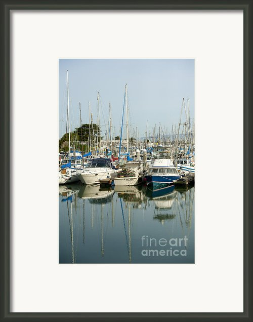 Moss Landing Boat Harbor Framed Print By Author And Photographer Laura Wrede