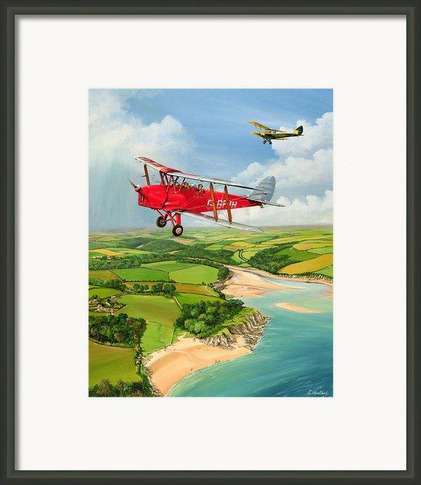 Mothecombe Moths Framed Print By Richard Wheatland