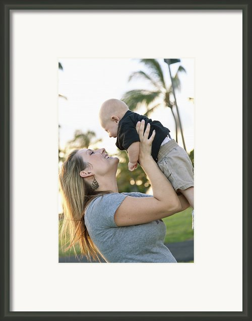 Mother And Baby Framed Print By Brandon Tabiolo