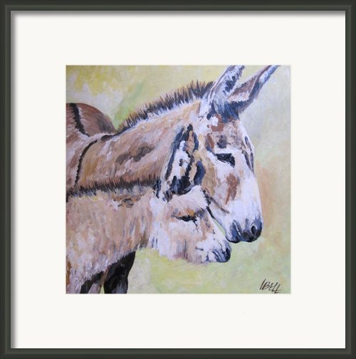 Mother And Baby Framed Print By Leonie Bell