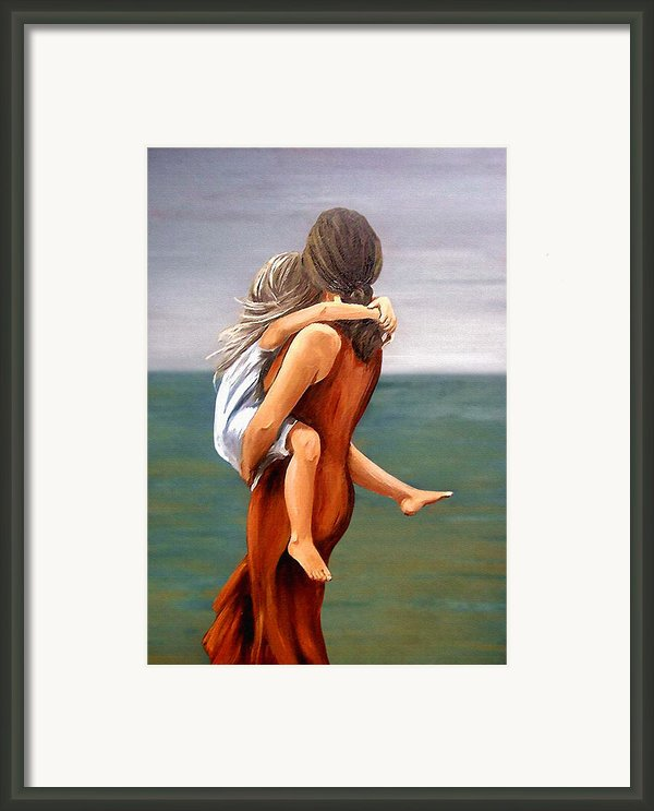Mother And Daughter Framed Print By Natalia Tejera