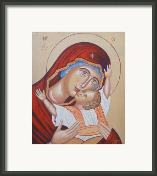 Mother And Son Framed Print By Jovica Kostic