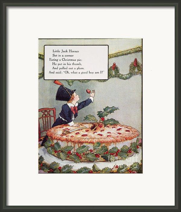 Mother Goose: Jack Horner Framed Print By Granger
