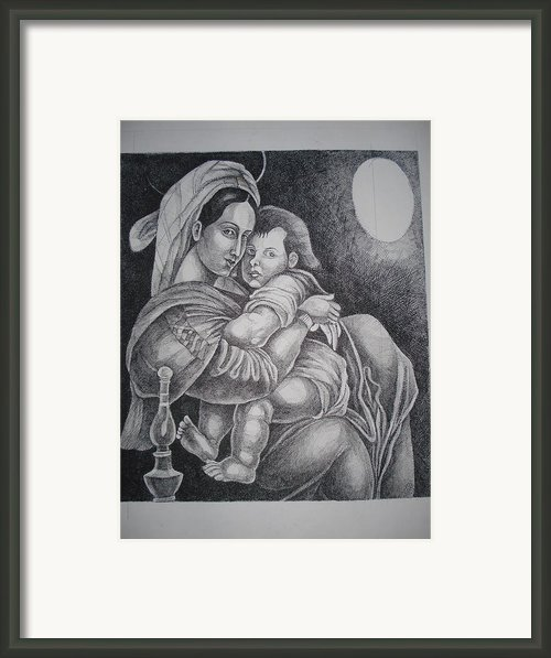 Mother With Her Baby Framed Print By Prasenjit Dhar