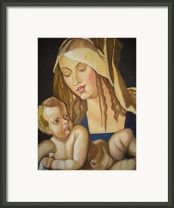 Mother With Her Child Framed Print By Prasenjit Dhar