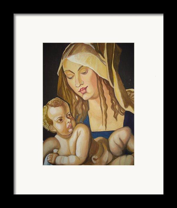 Mother With Her Child Framed Print By Prasenjit Dhar