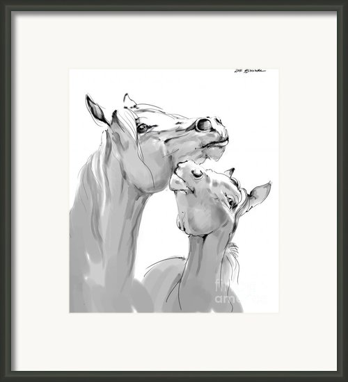 Motherhood Framed Print By Angel  Tarantella