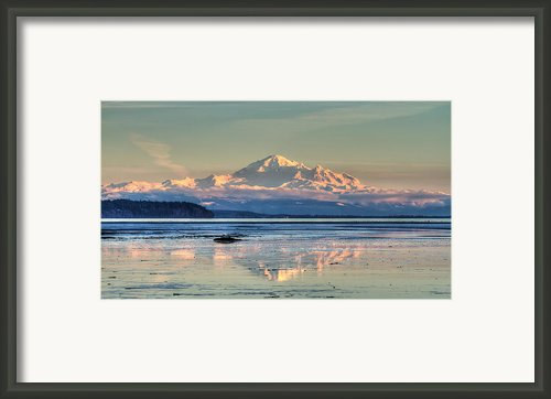Mount Baker North Cascades National Park Framed Print By Pierre Leclerc