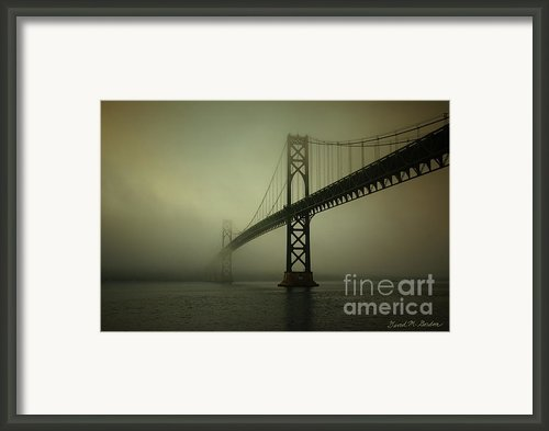 Mount Hope Bridge Framed Print By Dave Gordon