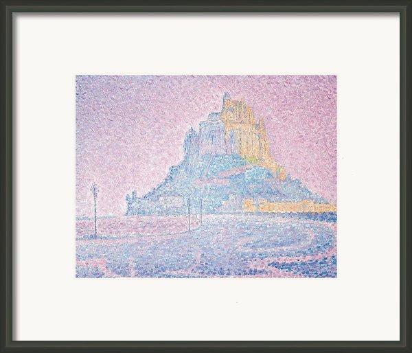 Mount Saint Michel Fog And Sun Framed Print By Paul Signac