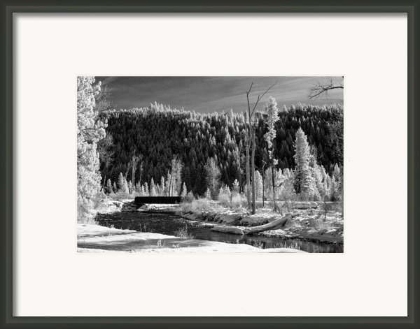 Mountain Bridge Framed Print By Paul Bartoszek