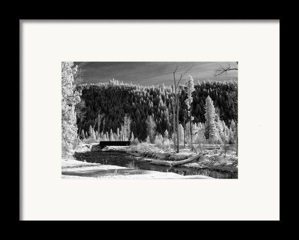 Mountain Bridge Framed Print By Paul Bartoszek