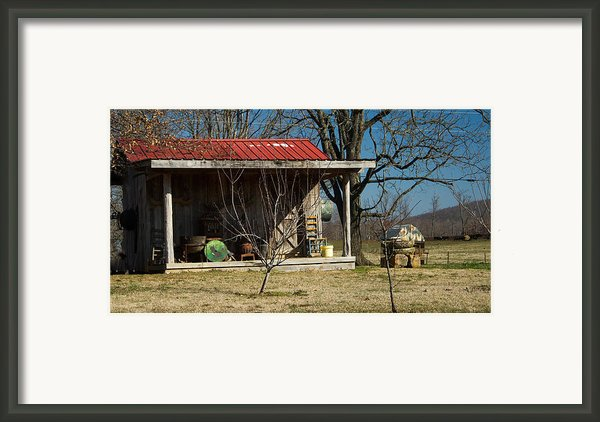 Mountain Cabin In Tennessee 1 Framed Print By Douglas Barnett