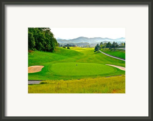 Mountain Golf Framed Print By Robert Harmon