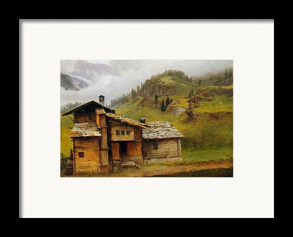 Mountain House  Framed Print By Albert Bierstadt
