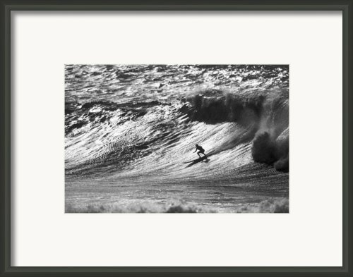 Mountain Surfer Framed Print By Sean Davey