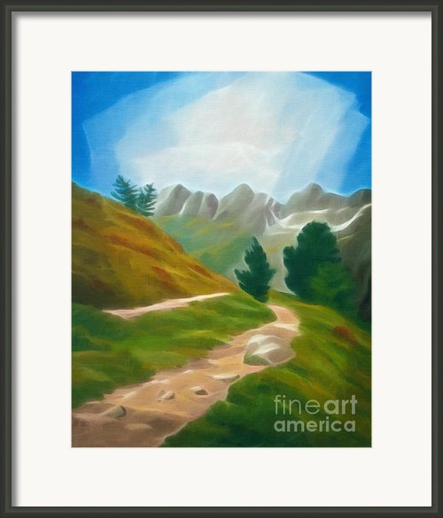 Mountain Trecking Framed Print By Lutz Baar