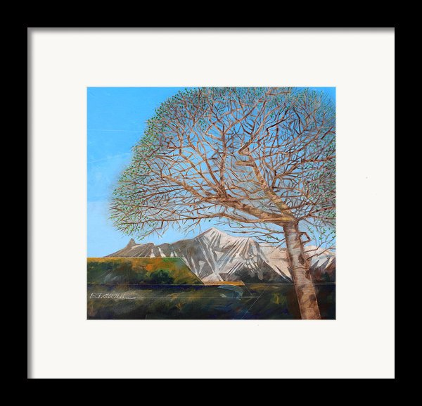 Mountainthoughts 5 Framed Print By Ron Patterson