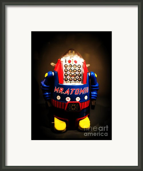Mr. Atomic Tin Robot Framed Print By Edward Fielding
