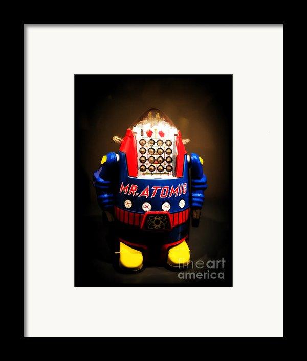 Mr. Atomic Tin Robot Framed Print By Edward Fielding