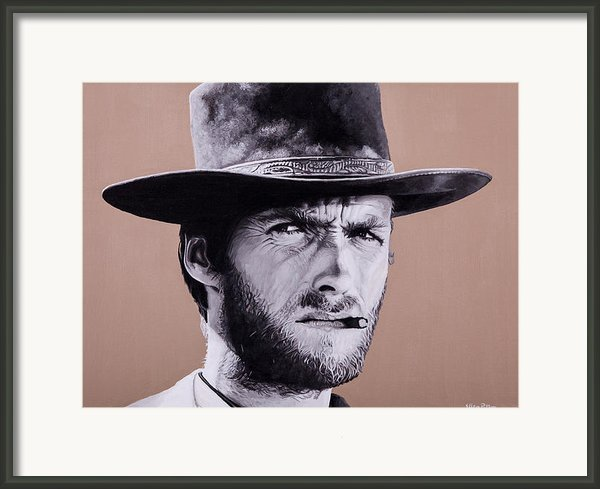 Mr. Eastwood Framed Print By Ellen Patton