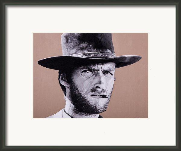 Mr. Eastwood Framed Print By Ellen Patton