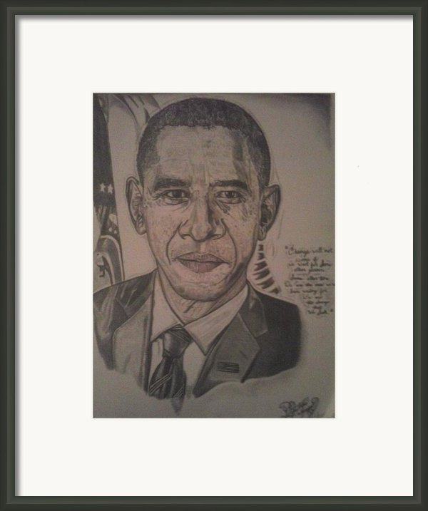 Mr. President Framed Print By Demetrius Washington