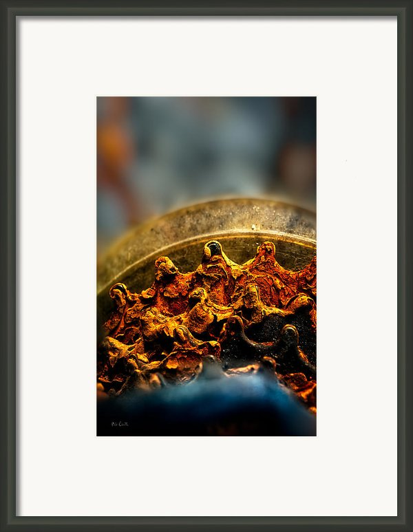 Muddy Rusty Sprockets Framed Print By Bob Orsillo