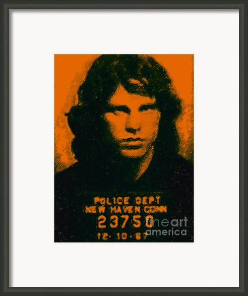 Mugshot Jim Morrison Framed Print By Wingsdomain Art And Photography