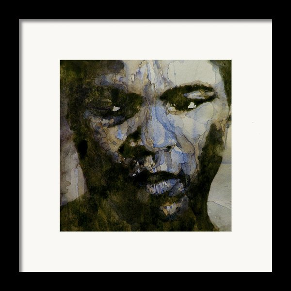 Muhammad Ali  A Change Is Gonna Come Framed Print By Paul Lovering