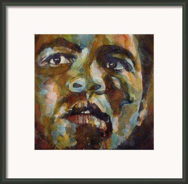 Muhammad Ali   Framed Print By Paul Lovering