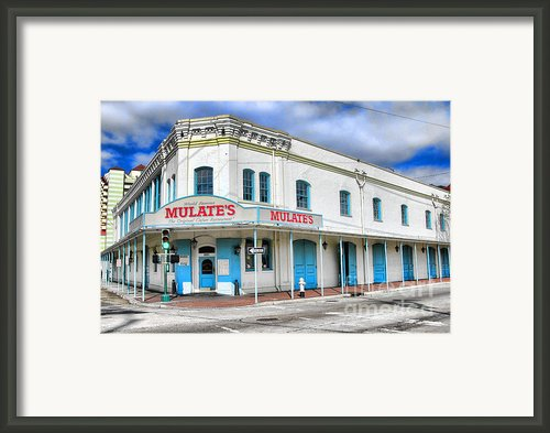 Mulates New Orleans Framed Print By Olivier Le Queinec