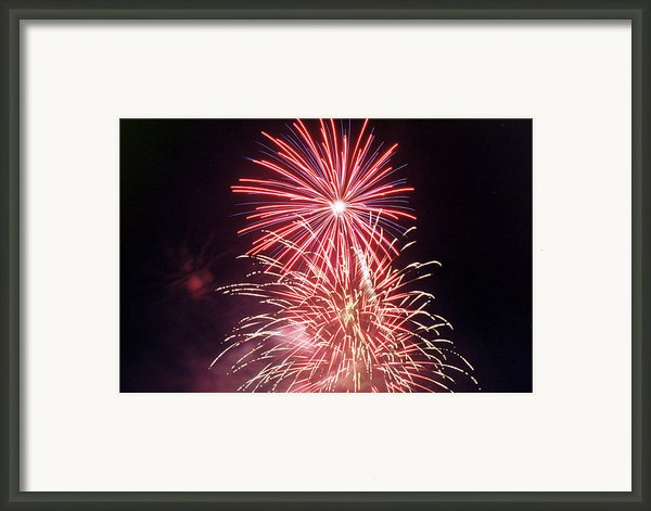 4th Of July Fireworks 1 Framed Print By Howard Tenke