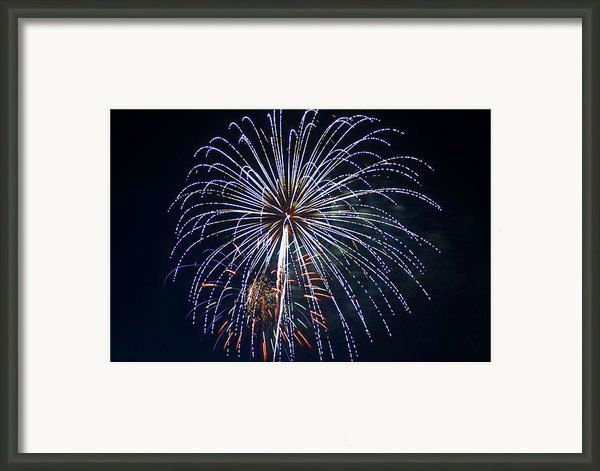 4th Of July Fireworks 12 Framed Print By Howard Tenke