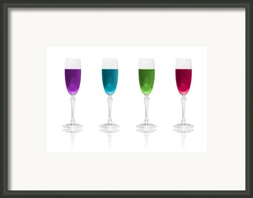 Multi Color Simplicity Framed Print By Erik Brede