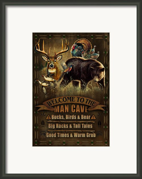 Multi Specie Man Cave Framed Print By Jq Licensing