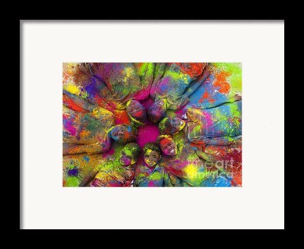 Multicoloured Boys Framed Print By Tim Gainey