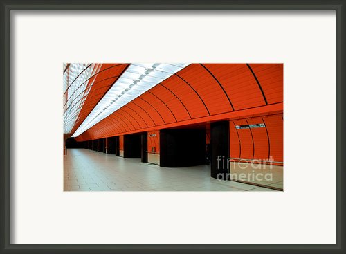 Munich Subway Iii Framed Print By Hannes Cmarits