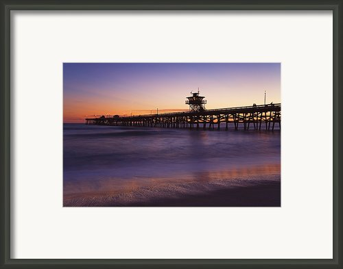 Municipal Pier At Sunset San Clemente Framed Print By Richard Cummins