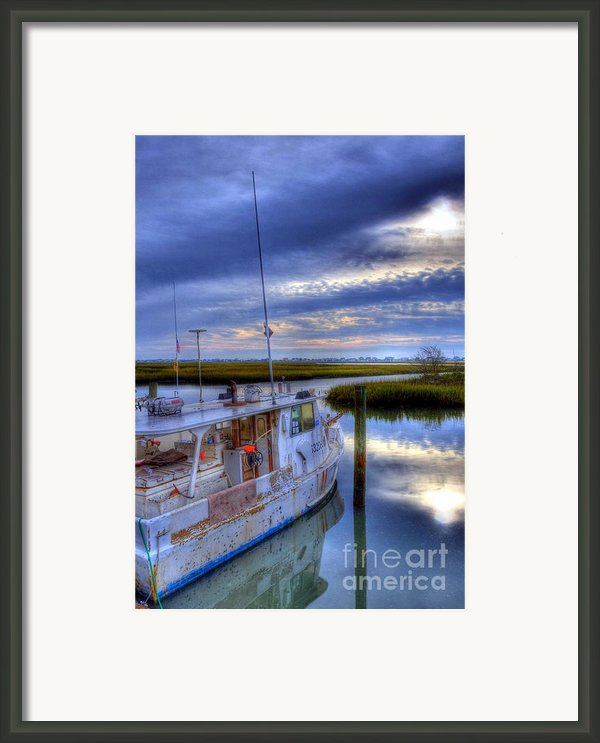 Murrells Inlet Morning Framed Print By Mel Steinhauer