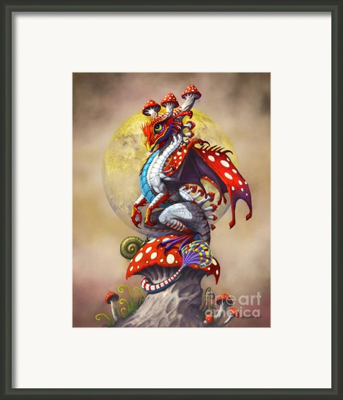 Mushroom Dragon Framed Print By Stanley Morrison