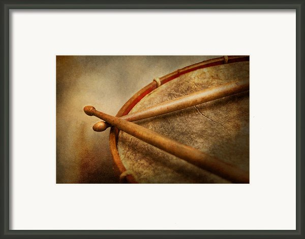 Music - Drum - Cadence  Framed Print By Mike Savad