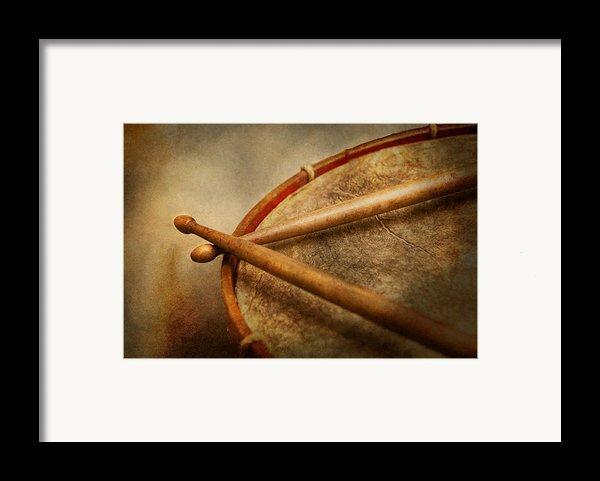Music - Drum - Cadence  Framed Print By Mike Savad
