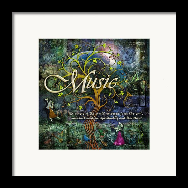 Music Framed Print By Evie Cook