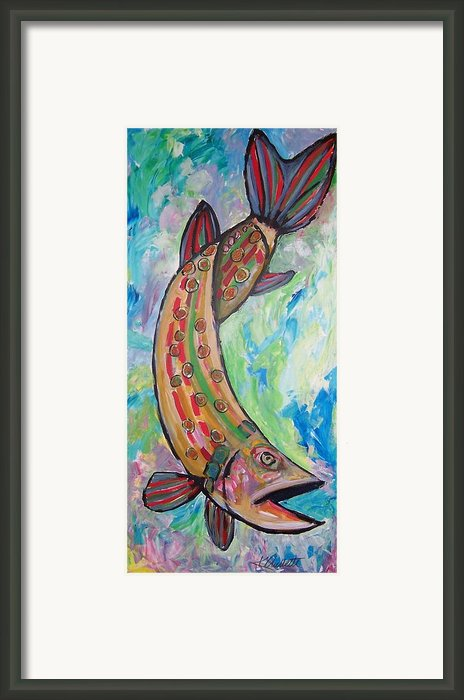 Muskie Framed Print By Krista Ouellette
