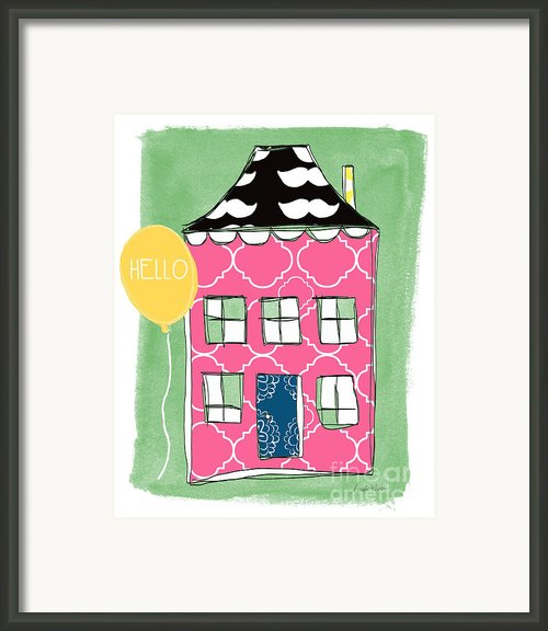 Mustache House Framed Print By Linda Woods