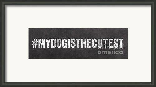 My Dog Is The Cutest Framed Print By Linda Woods