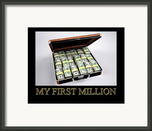 My First Million Framed Print By Studio Artist